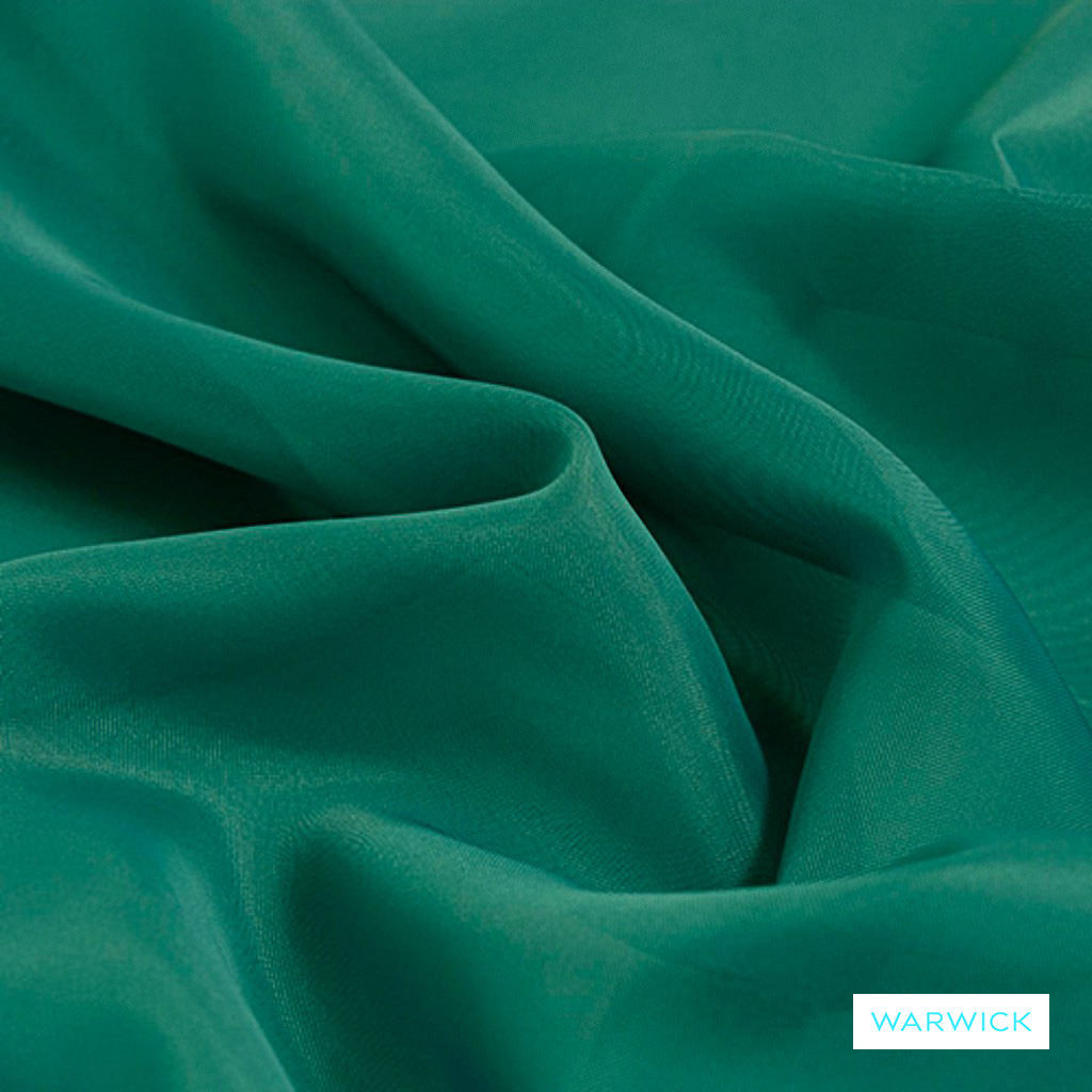 Warwick Marley - Teal  | Curtain Fabric - Plain, Synthetic, Wide Width