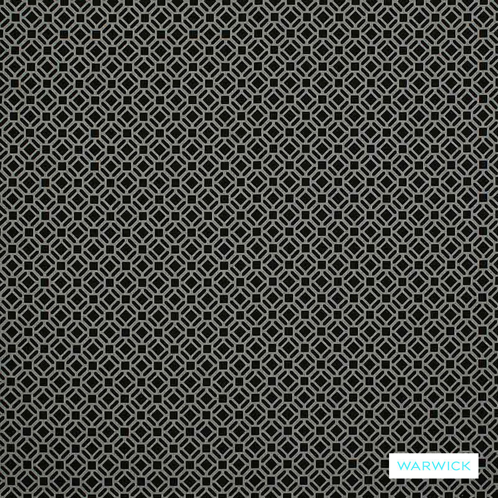 Warwick Yasawa - Basalt | Curtain Fabric - Black, Charcoal, Grey, Contemporary, Outdoor Use, Geometric, Bacteria Resistant, Insect Resistant, Circles