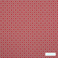 Warwick Yasawa - Hibiscus  | Curtain Fabric - Stain Repellent, Red, Circlelink, Contemporary, Geometric, Outdoor Use, Pink, Purple, Small Scale, Halo