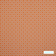 Warwick Yasawa - Lobster  | Curtain Fabric - Stain Repellent, Terracotta, Circlelink, Contemporary, Geometric, Outdoor Use, Small Scale, Synthetic