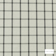Clarke & Clarke - Aviemore Charcoal  | Curtain & Upholstery fabric - Black, Charcoal, Traditional, Check, Gingham, Pattern, Fibre Blend