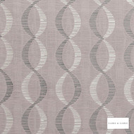 Clarke & Clarke - Campden Heather  | Curtain Fabric - Pink, Purple, Geometric, Ogee, Fibre Blend