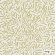 Morris and Co - Willow 210384  | Wallpaper, Wallcovering - Farmhouse, Floral, Garden, Tan, Taupe, Commercial Use, Domestic Use