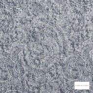 Clarke & Clarke - Coronado Denim  | Curtain & Upholstery fabric - Blue, Abstract, Fibre Blend