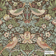 Morris and Co - Strawberry Thief 212565  | Wallpaper, Wallcovering - Art Noveau, Craftsman, Traditional, Animals, Animals - Fauna, Domestic Use, Birds