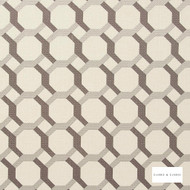 Clarke & Clarke - Giovanni Storm  | Curtain Fabric - Beige, Geometric, Embroidery, Circlelink, Circles, Lattice, Trellis, Fibre Blend