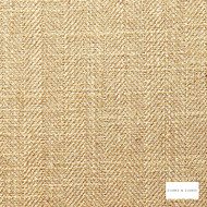 Clarke & Clarke - Henley Straw  | Curtain & Upholstery fabric - Linen/Linen Look, Gold, Yellow, Herringbone, Plain, Fibre Blend