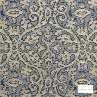 Clarke & Clarke - Imperiale Chicory 2  | Curtain Fabric - Blue, Traditional, Damask, Fibre Blend
