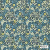 Morris and Co - Morris and Co - Seaweed 214714  | Wallpaper, Wallcovering - Blue, Art Noveau, Craftsman, Floral, Garden, Domestic Use