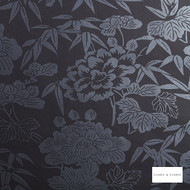 Clarke & Clarke - Jasmin Blacksilver Wp  | Wallpaper, Wallcovering - Black, Charcoal, Floral, Garden, Botantical