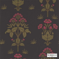 Morris and Co - Meadow Sweet 210352  | Wallpaper, Wallcovering - Black - Charcoal, Craftsman, Floral, Garden, Jacobean, Traditional, Commercial Use, Domestic Use