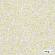 Morris and Co - Lily Leaf DMCOLI201  | Curtain & Upholstery fabric - Beige, Gold,  Yellow, Farmhouse, Floral, Garden, Natural Fibre, Domestic Use, Natural, Standard Width