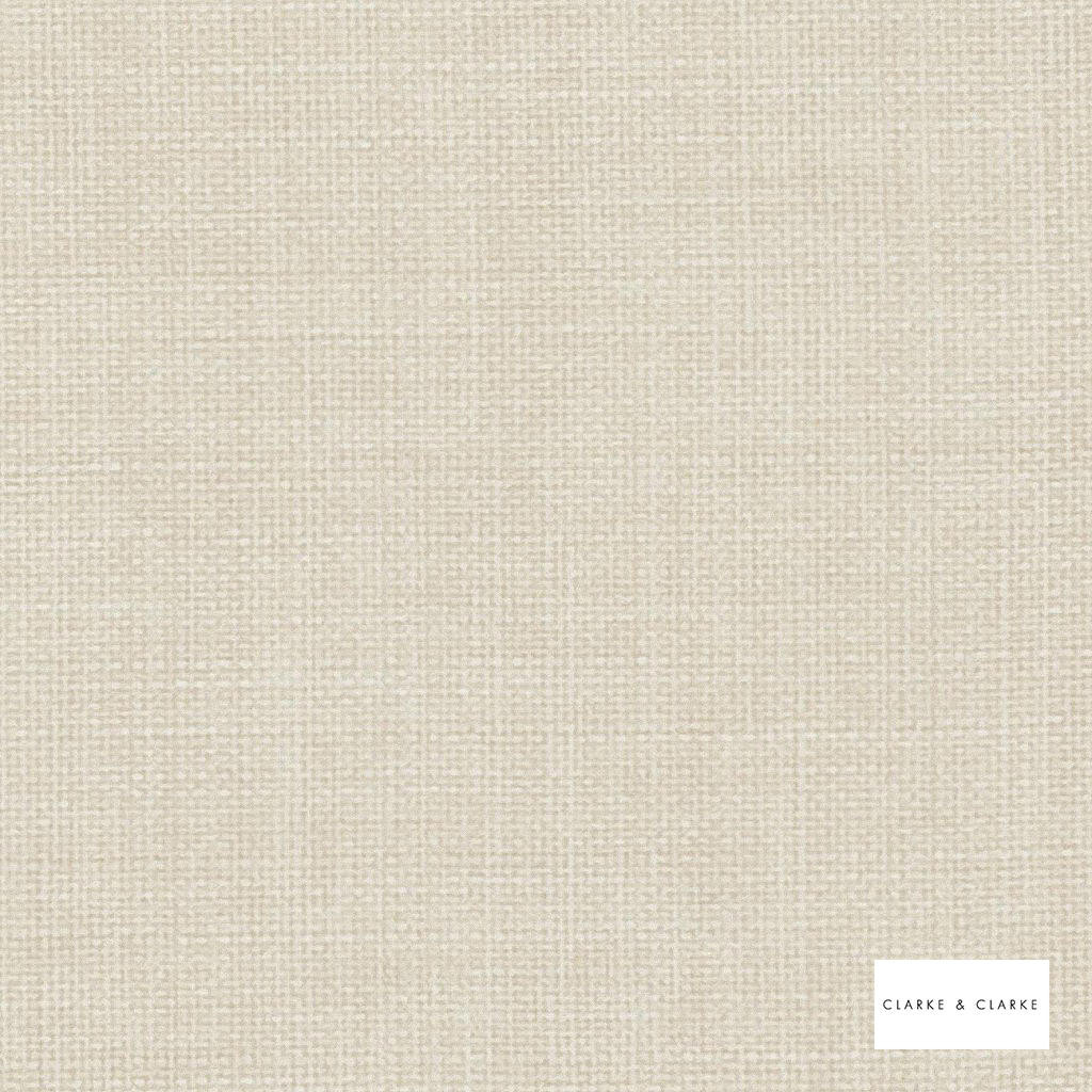 Clarke & Clarke - Linoso Ii Cream  | Curtain & Upholstery fabric - Whites, Plain, Strie, Strie