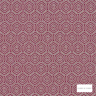 Clarke & Clarke - Lunar Raspberry  | Curtain & Upholstery fabric - Pink, Purple, Ikat, Geometric, Honeycomb, Fibre Blend