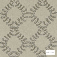 Clarke & Clarke - Malham Taupe  | Curtain Fabric - Green, Floral, Garden, Botantical, Mediterranean, Geometric, Embroidery, Lattice, Trellis
