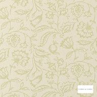 Clarke & Clarke - Marie Wp Sagecream  | Wallpaper, Wallcovering - Green, Floral, Garden, Botantical, Wide-Width, Jacobean, Print, Paper Based