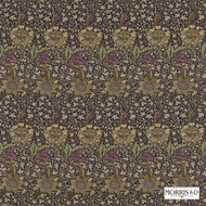 Morris and Co - Kennet 220323  | Curtain & Upholstery fabric - Art Noveau, Craftsman, Floral, Garden, Natural Fibre, Pink, Purple, Commercial Use, Domestic Use, Natural