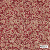 Morris and Co - Bramble 224465    Curtain & Upholstery fabric - Red, Floral, Garden, Botantical, Natural, Natural Fibre, Standard Width