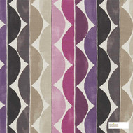 Scion Yoki 120308  | Curtain Fabric - Pink, Purple, Stripe, Eclectic, Natural, Natural Fibre, Standard Width