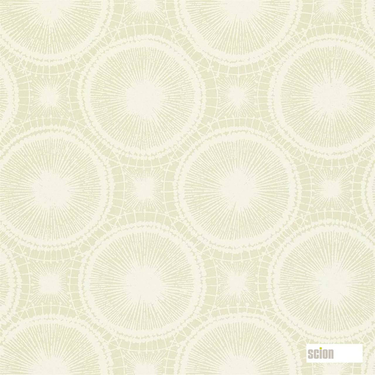 Scion Tree Circles 110250  | Wallpaper, Wallcovering - White, Geometric, Midcentury, Commercial Use, Domestic Use, White, Circles