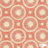 Scion Tree Circles 110255  | Wallpaper, Wallcovering - Fire Retardant, Orange, Geometric, Circles
