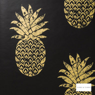 Clarke & Clarke - Tobago Ebony Wp  | Wallpaper, Wallcovering - Black, Charcoal, Gold, Yellow, Floral, Garden, Botantical, Tropical, Print