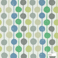 Scion Taimi 111121  | Wallpaper, Wallcovering - Fire Retardant, Blue, Green, Eclectic, Geometric, Circles, Dots, Spots