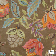 JW-Design - Monet Flaxseed Uncoated 137cm  | Curtain Sheer Fabric - Brown, Contemporary, Floral, Garden, Botantical, Natural, Natural Fibre