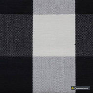 Gummerson - Beach Check Black Uncoated 140cm  | Curtain & Upholstery fabric - Black, Charcoal, Stripe, Uncoated, Gingham, Fibre Blend, Standard Width