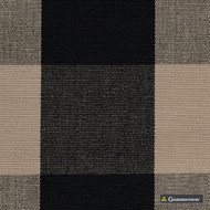 Gummerson - Beach Check Multi Uncoated 140cm  | Curtain & Upholstery fabric - Beige, Black, Charcoal, Stripe, Uncoated, Gingham, Fibre Blend