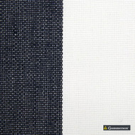 Gummerson - Avalon Stripe Navy Uncoated 140cm  | Curtain Fabric - Gold, Yellow, Stripe, Traditional, Uncoated, Fibre Blend, Standard Width