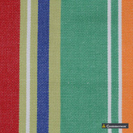 Gummerson - French Stripe Bold Uncoated 150cm    Curtain Fabric - Green, Stripe, Uncoated, Fibre Blend, Standard Width