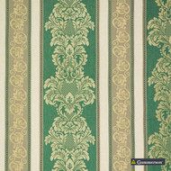 Gummerson - Knightsbridge Emerald Uncoated 280cm  | Curtain Fabric - Stripe, Blockout, Blackout, Whites, Plain, Texture, Standard Width