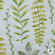 JW-Design - Provence Honeydew Uncoated 137cm  | Curtain Sheer Fabric - Green, Contemporary, Floral, Garden, Botantical, Natural, Natural Fibre