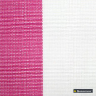 Gummerson - Avalon Stripe Pink Uncoated 140cm  | Curtain Sheer Fabric - Fire Retardant, Brown, Red, Contemporary, Traditional, Uncoated, Natural