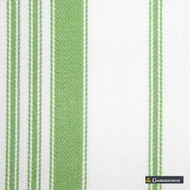 Gummerson - Multi Stripe Apple Uncoated 140cm  | Curtain & Upholstery fabric - Green, Stripe, Uncoated, Fibre Blend, Standard Width