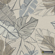 Gummerson - Jungle Smoke Softweave 138cm  | Curtain Fabric - Beige, Tan, Taupe, Floral, Garden, Botantical, Tropical, Standard Width