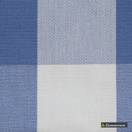 Gummerson - Beach Check Sea Mist Uncoated 140cm  | Curtain & Upholstery fabric - Blue, Stripe, Uncoated, Gingham, Fibre Blend, Standard Width