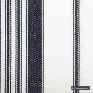 Gummerson - Multi Stripe Navy Uncoated 140cm    Curtain & Upholstery fabric - Black, Charcoal, Stripe, Uncoated, Whites, Fibre Blend, Standard Width