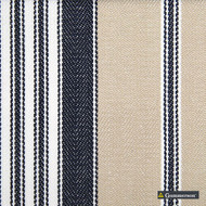 Gummerson - Multi Stripe Denim Uncoated 140cm  | Curtain Sheer Fabric - Fire Retardant, Wide-Width, Whites, Plain