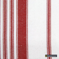 Gummerson - Multi Stripe Red Uncoated 140cm  | Curtain & Upholstery fabric - Grey, Tan, Taupe, Stripe, Herringbone, Standard Width