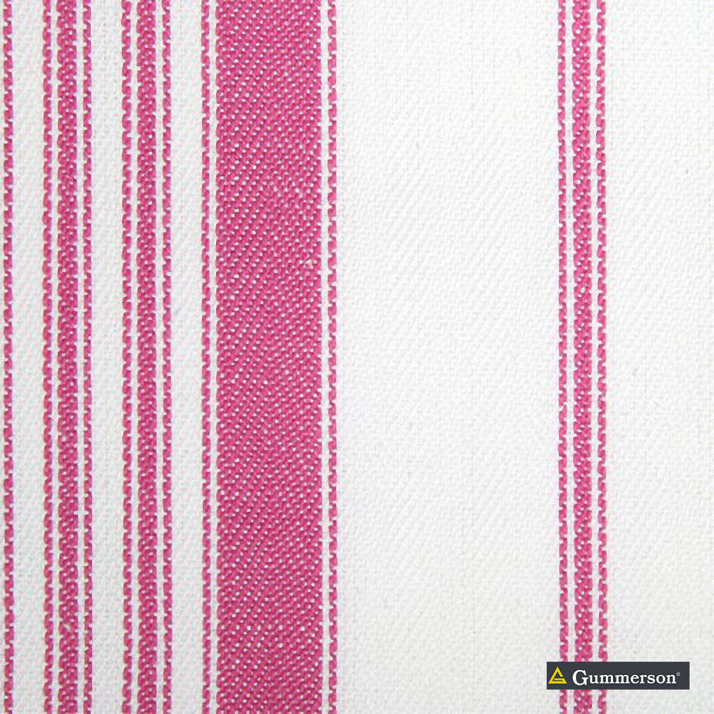 Gummerson - Multi Stripe Pink Uncoated 140cm  | Curtain Fabric - Grey, Stripe, Uncoated, Fibre Blend, Standard Width