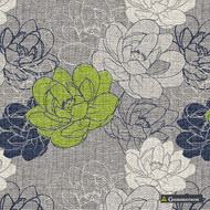 Gummerson - Resort Moss Softweave 138cm  | Curtain Fabric - Green, Floral, Garden, Botantical, Standard Width