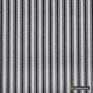 Gummerson - Ticking Stripe Black Uncoated 140cm  | Curtain & Upholstery fabric - Black, Charcoal, Stripe, Uncoated, Fibre Blend, Standard Width