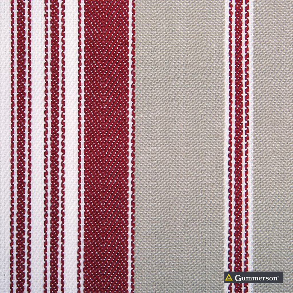 Gummerson - Multi Stripe Racing Uncoated 140cm    Curtain & Upholstery fabric - Red, Stripe, Uncoated, Fibre Blend, Standard Width