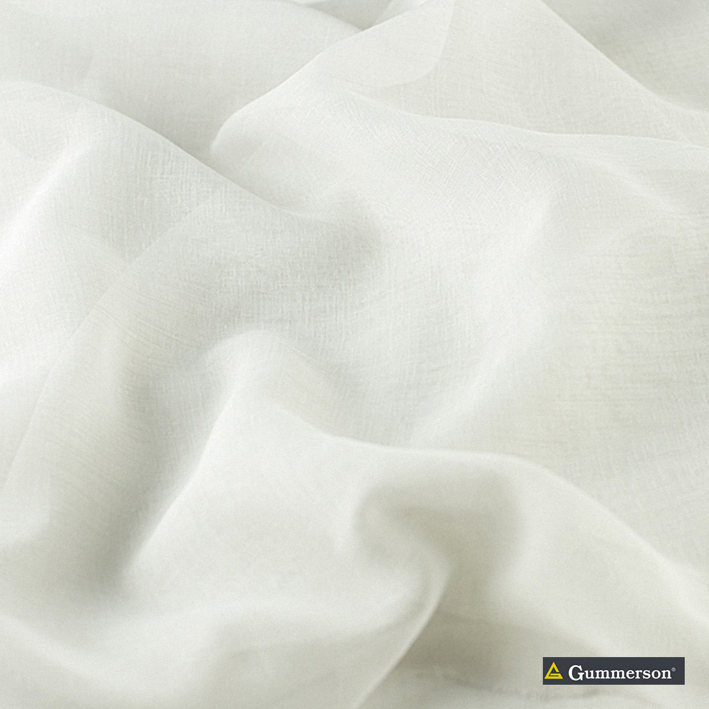 Gummerson - Astra White Sheer 320cm  | Curtain & Curtain lining fabric - Brown, Uncoated, Wide-Width, Plain, Fibre Blend