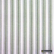 Gummerson - Ticking Stripe Apple Uncoated 140cm  | Curtain & Upholstery fabric - Green, Stripe, Uncoated, Fibre Blend, Standard Width