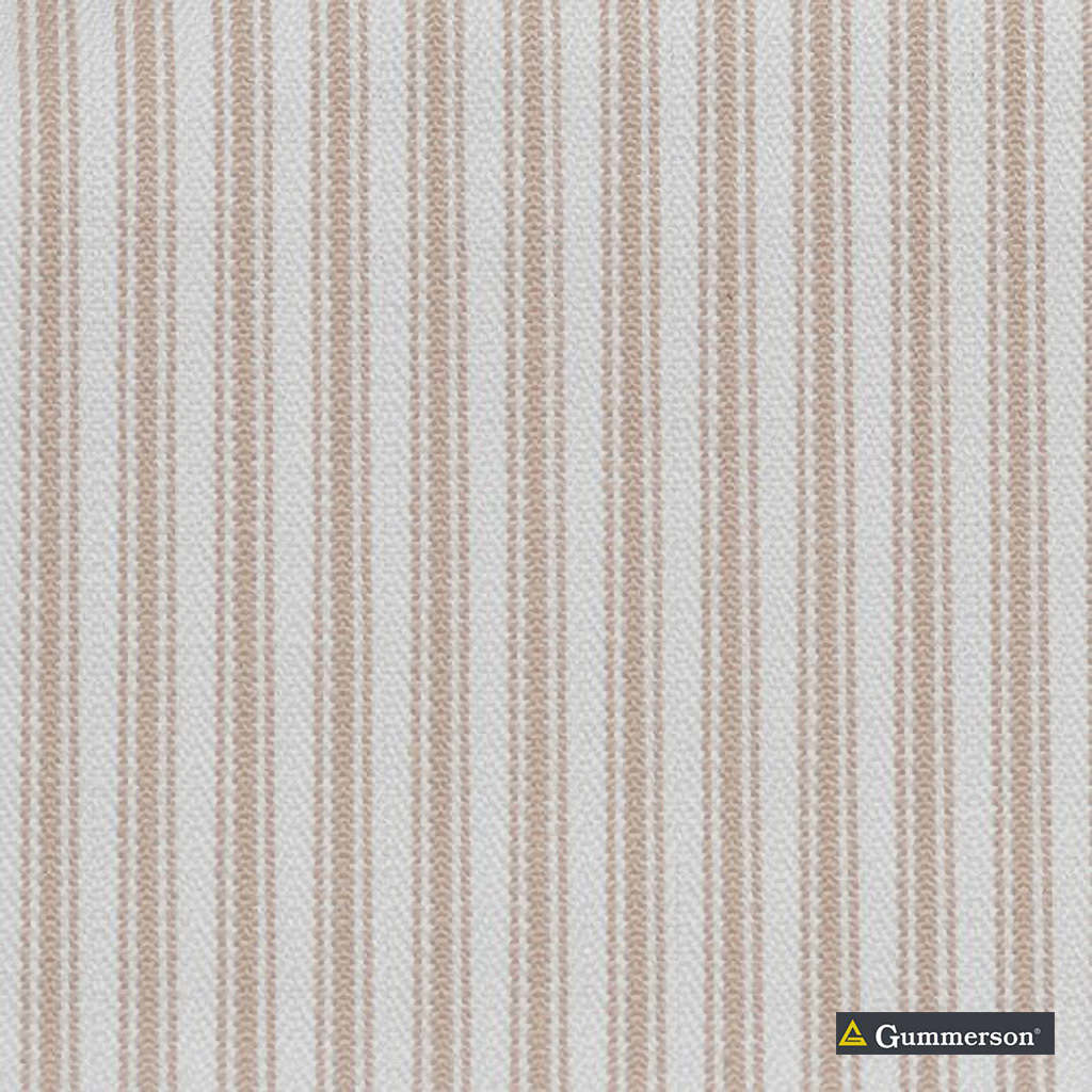 Gummerson - Ticking Stripe Taupe Uncoated 140cm  | Curtain & Upholstery fabric - Beige, Stripe, Uncoated, Fibre Blend, Standard Width