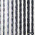 Gummerson - Ticking Stripe Navy Uncoated 140cm  | Curtain & Upholstery fabric - Blue, Stripe, Uncoated, Fibre Blend, Standard Width