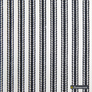 Gummerson - Ticking Stripe Navy Uncoated 140cm  | Curtain & Upholstery fabric - Black, Charcoal, Stripe, Uncoated, Fibre Blend, Standard Width